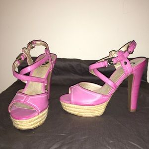 Pink Guess Sandal Pumps